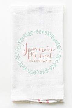 Give your clients something useful to remember you by. Put your logo on a kitchen towel. http://shop.weddingchicks.com/personalized-business-towel-set-of-20/