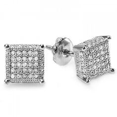 Awesome Mens Square Diamond Stud Earrings Check More At Http Lascrer