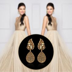 Who doesn't own golden evening gown #earrings ?! Whatsapp us on +91-9769714221  #siyora #Jewellery #jewelry #onlineshopping #onlinejewellery #onlinestore #partywear #danglers #bollywood #bollywoodfashion #Accessories #fashionaccessories #cocktail #Mumbai #delhifashionblogger #beautyblog #wedding #indian #contemporary #conceptjewellery #Designer