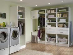 Clean Basement Laundry Room Ideas with Tidy Arrangements : Elegant Laundry Room Design Laundry Room Shelves, Laundry Room Cabinets, Basement Laundry, Laundry Room Organization, Laundry Storage, Laundry Room Design, Closet Storage, Laundry Rooms, Small Laundry