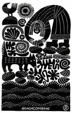 Beachcombing by Hilke MacIntyre