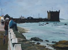 Oil painting towards the harbour in Essaouira, Morocco. This was exhibited in the Artist Exhibition at Patchings Art Festival 2016.