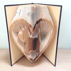 SCOTTIE DOG in Heart Book Folding Pattern. DIY by LooksInviting