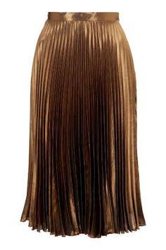 f2df062899fb Foil Pleated Midi Skirt - All Dressed Up - Clothing - Topshop USA Pleated  Midi Skirt
