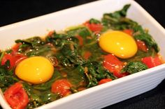 baked egg with spinach