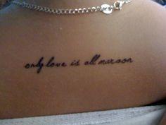 Bon Iver tattoo; my dream.