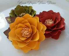 Handmade Paper Flowers   #weddings #home #decor #paper #flowers