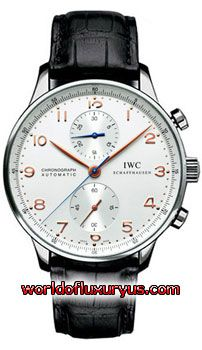 IW371401 -  This IWC Portuguese Chrono-Automatic watch in stainless steel features a 40.9mm case, silver dial, and a crocodile bracelet. The IWC Portuguese Chrono-Automatic watch also features an automatic chronograph movement and is water resistant to 30 meters. - See more at: http://www.worldofluxuryus.com/watches/IWC/Discontinued-Models/IW3714-01/185_789_1002.php#sthash.FqLpgRMl.dpuf