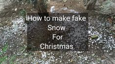 Snow Effect, Fake Snow, Home Movies, Cards Against Humanity, Projects, Christmas, How To Make, Log Projects, Xmas