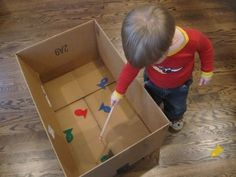Box fishing is addictive and terrific for improving the coordination of younger children.