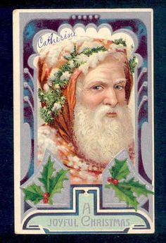 Father Christmas Wears Pine Garland