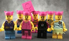 Complete your LEGO Women's March with pink Pussyhats!