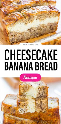 #Cheesecake #Banana #Bread #BananaBread #Cream #Cheese #CreamCheese Banana Bread Muffins, Gluten Free Banana Bread, Easy Banana Bread, Healthy Banana Bread, Chocolate Chip Banana Bread, Banana Bread Recipes, Bake Sale Treats, Bake Sale Recipes, Cream Cheese Bread