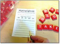 Classroom Freebies Too: Making Words Language Arts Center