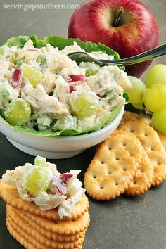 Chicken Salad With Apples & Grapes