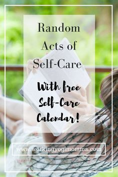 Taking a few random minutes a day to relax or do something fun can make all the chaos tolerable!  {Free Self-Care Calendar}