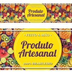 Rótulo Adesivo Frutas - Produto Artesanal 10 un