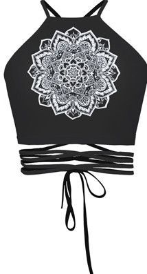 Digital Print Sun Moon Stars Series Black Tops For Women Blusa Tricot Camiseta Feminina Bandage Sleeveless Sexy Crop Tops Camis