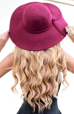 Classy wide brim hat by Beginning Boutique! http://beginningboutique.com.au/collections/clothes/products/salem-hat-wine