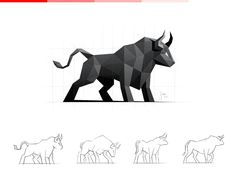Dribbble - Bull / Logo Design by simc