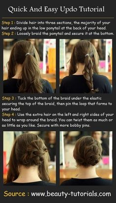 Beautiful Hair UpDo #hairstyle #longhair #howto #tutorial #wavyhair - bellashoot.com