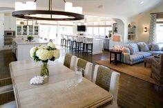 Open Kitchen Great Room Designs | Photo Credit: Brown Design via properhunt.com