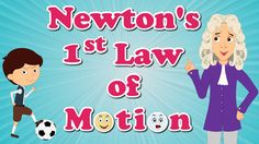 """You will learn about """"Newton's First Law of Motion"""" in this video. Sir Isaac Newton was one of the greatest influential scientists of all time. He formulated..."""
