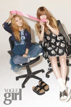 'A Style for You's Bora, Hani, Heechul, and Hara pose for 'Vogue Girl' | allkpop.com