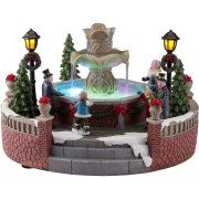 Holiday Time Christmas Village 5 inch Battery Operated Holiday Fountain, Multicolor Bring a small town feel to your family celebration with the Holiday Time Christmas Village 5 Christmas Village Accessories, Christmas Village Collections, Lemax Christmas Village, Christmas Town, Christmas Party Games, Christmas Villages, Noel Christmas, Christmas Crafts, Lemax Village