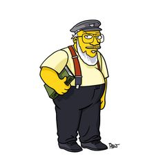 George R. R. Martin in Simpsons form - CNET via @CNET