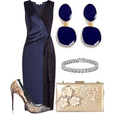 A fashion look from December 2017 featuring Diane Von Furstenberg dresses, Christian Louboutin pumps and Rimen & Co. clutches. Browse and shop related looks.