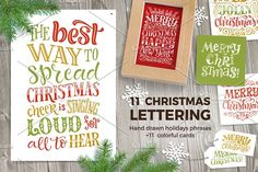 Christmas Lettering Collection 2 by bariskina on @creativemarket
