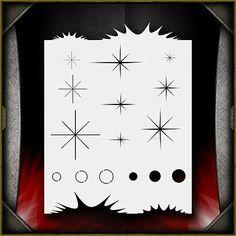 """Sparkle Freehander"" Airbrush Stencil Template Airsick | eBay"
