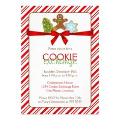 Cookie Exchange Invitations for a holiday Christmas Cookie Swap. Add your own text to these templates. Cookie Exchange Party, Christmas Cookie Exchange, Swap Party, Christmas Party Invitations, Cookie Swap, Christmas Holidays, Xmas, Christmas Ideas, Christmas Cards