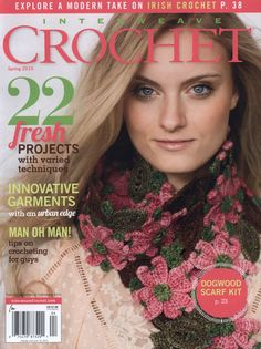 The Interweave Crochet Spring 2015 options 22 contemporary tasks for spring. *That beautiful dogwood scarf! Discover a contemporary tackle Irish crochet with crochet attraction lace, and crochet an beautiful Dogwood Scarf. Crochet Chart, Love Crochet, Knit Crochet, Crochet Winter, Interweave Crochet, Freeform Crochet, Knitting Magazine, Crochet Magazine, Knitting Books
