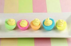 Colored deviled Easter eggs!
