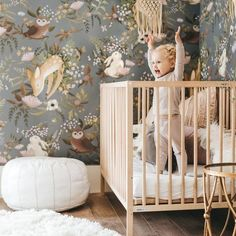 Boys nursery wallpaper oh deer mural kids wallpaper boys nursery wallpaper wall paper nursery wall wallpaper .