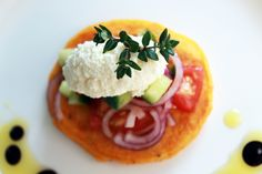 Homemade fresh ricotta | carrot and sweet potato blini | simple summer salad