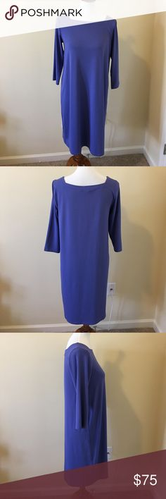 NWT Eileen Fisher Viscose Jersey 3/4 Sleeve Dress NWT Eileen Fisher Viscose Jersey 3/4 Sleeve Dress, Size Small, is a light purple in color.  So comfortable and I have a love affair with Viscose Jersey, so luxurious!  Made in USA!!! Machine wash cold. Eileen Fisher Dresses Midi