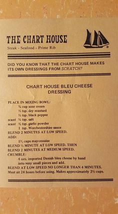 The Chart House Bleu Cheese Dressing—made as listed (with olive oil mayo), ¼ cup serving: 203 cal, 2 g net carbs, 3 g protein, 19 g fat. Cat Recipes, Sauce Recipes, Cooking Recipes, Salad Dressing Recipes, Salad Dressings, Marinade Sauce, Homemade Dressing, Sauces, Gourmet