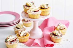 Get the kid's involved with these pretty butterfly cupcakes.