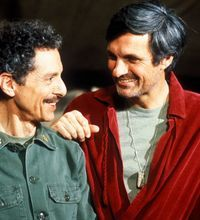 Alan Arbus, left, and Alan Alda on the late 1970s TV program, M*A*S*H. Allan Arbus, known to many of us at the psychiatrist Maj. Sidney Freedman from M*A*S*H, has died at age 95.  The actor, who was married to photographer Diane Arbus, died on Friday at his home in Los Angeles, reports The New York Times.