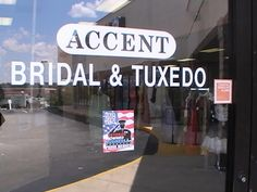 Here is a close-up of the Veteran Owned Business Proud Member sticker on Accent Bridal and Tuxedo's front door (North Charleston, South Carolina). Click the image above to view their profile and to learn more about this wonderful Veteran Owned Business. Be sure to stop in and visit them next time you are in North Charleston!