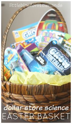 Easter Basket Gift Dollar Store Science Activities