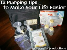 Purposeful Productions: 12 Pumping Tips to Make Your Life Easier