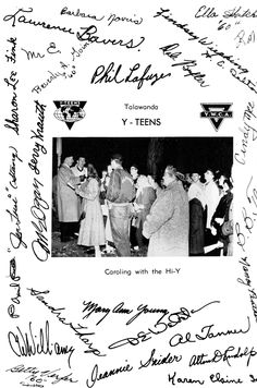 1959 Talawanda yearbook, Oxford, Ohio, Y-TEENS with autographs.
