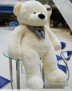 "Joyfay Giant Teddy Bear 78""(6.5 Feet) White JOYFAY,http://www.amazon.com/dp/B00580KX2W/ref=cm_sw_r_pi_dp_a9Tytb0P4PK53JRZ"
