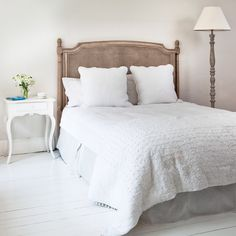 Brigitte Rattan Headboard by The French Bedroom Company - something similar to this, maybe not as high?