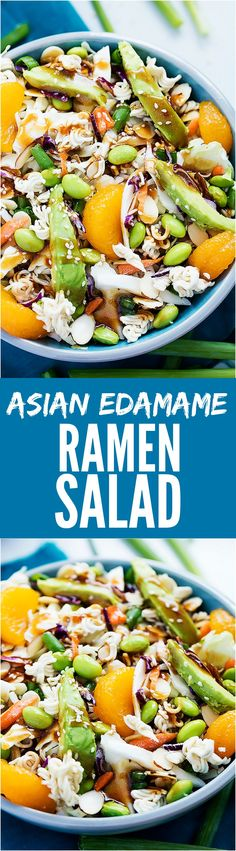 This Asian Edamame Crunch Salad is the BEST and will be a hit where ever it goes!