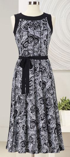 Abstract Paneled Dress (NE-144)